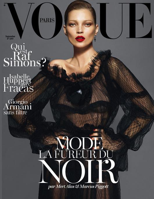 Kate Moss Vogue Paris September 2012