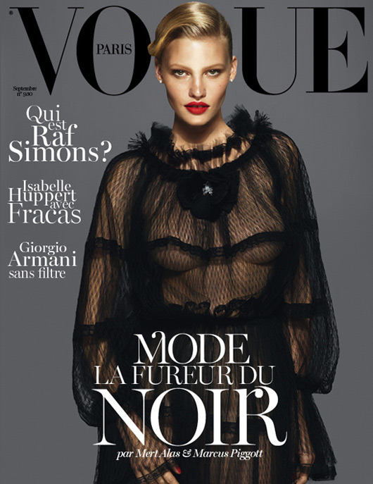 Lara Stone Vogue Paris September 2012