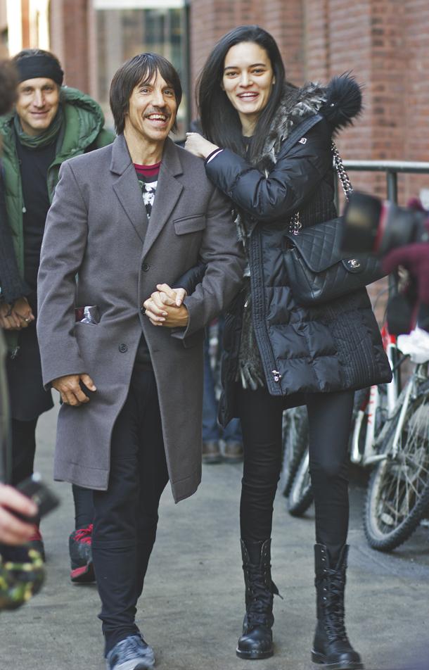 NYFW 2015 Street Style Anthony Kiedis Helena Vestergaard