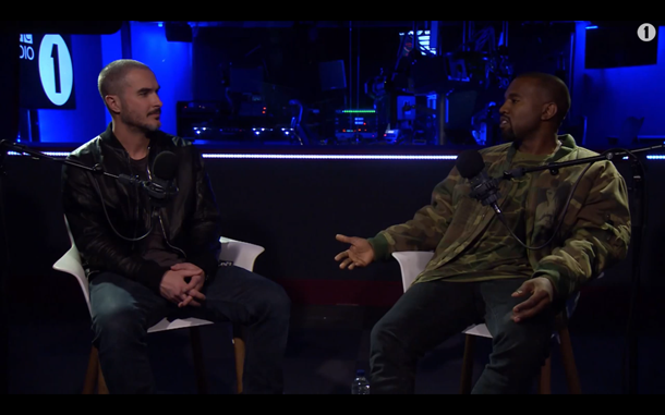 Kanye West Chats with Zane Lowe on BBC Radio 1