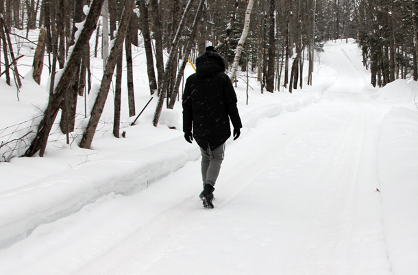 What I Wore In the Great White North-Walking Backwards