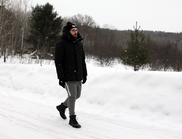 What I Wore In the Great White North-Walking