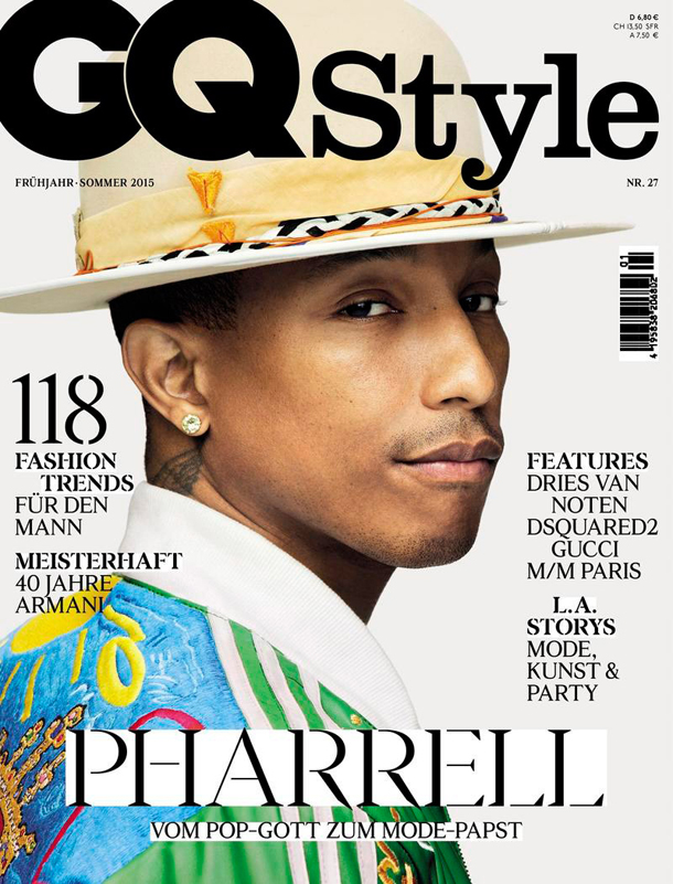 Pharrell Williams for GQ Style Germany Spring Summer 2015