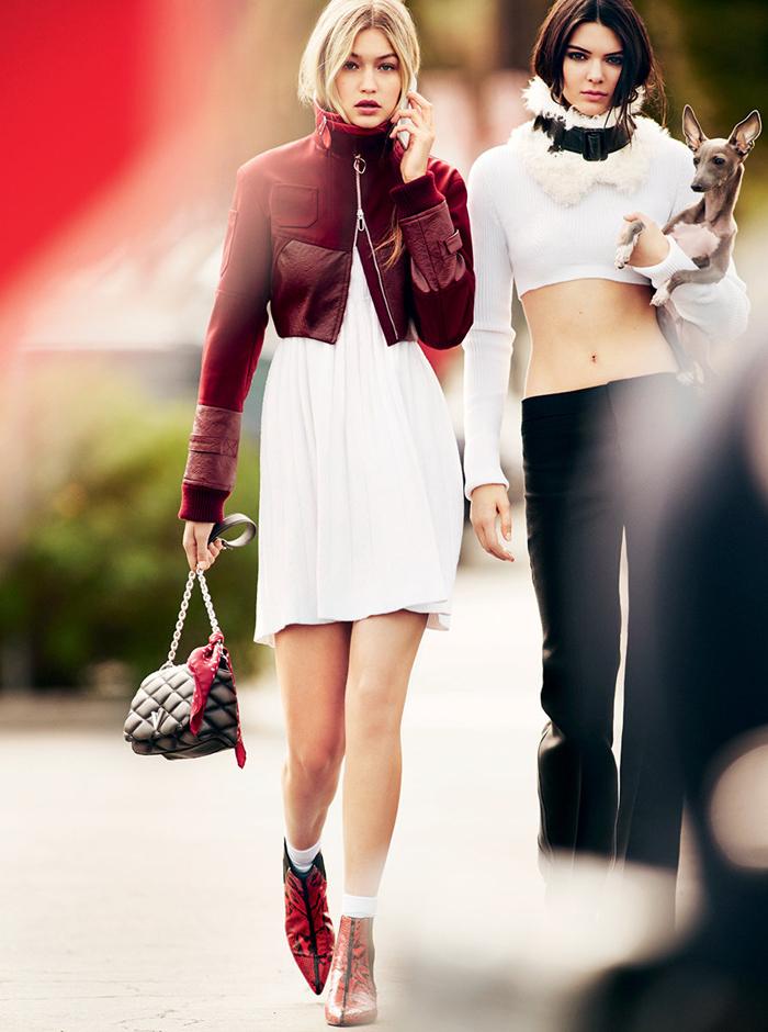 Kendall Jenner Gigi Hadid Justin Bieber Ansel Elgort Vogue April 2015-9
