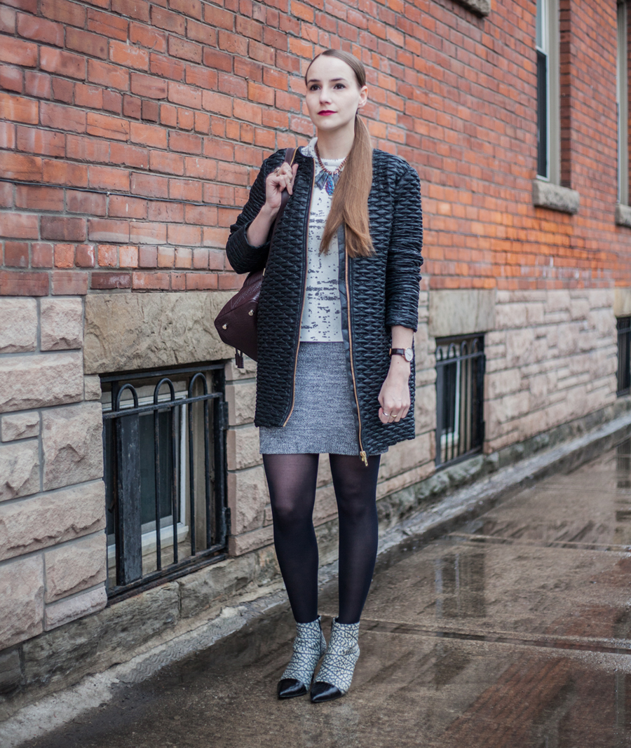 Toronto Fashion Week Street Style Fall Winter 2015 Look 1
