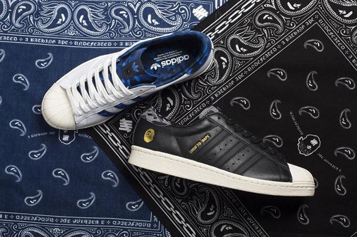BAPE x Undefeated x adidas Originals Superstar 80s Pack-1