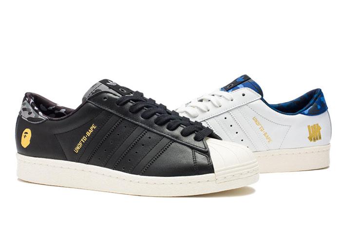 BAPE x Undefeated x adidas Originals Superstar 80s Pack-4