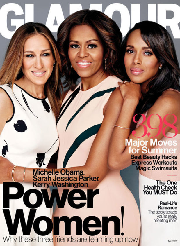 Michelle Obama, Sarah Jessica Parker & Kerry Washington for Glamour May 2015