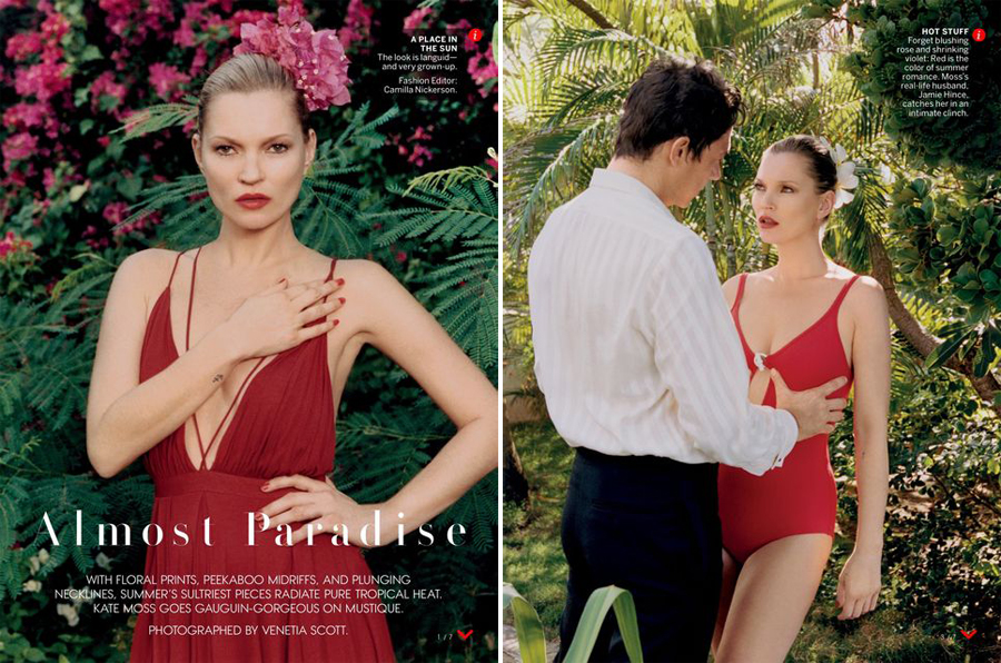 Kate Moss & Jamie Hince for Vogue US May 2015