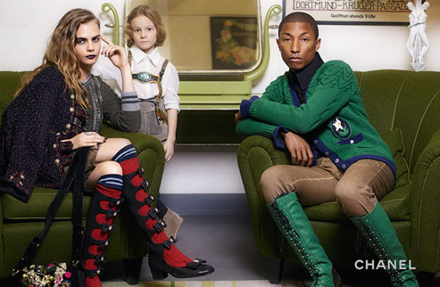 Pharrell Williams & Cara Delevinge for Chanel Pre-Fall 2015-3