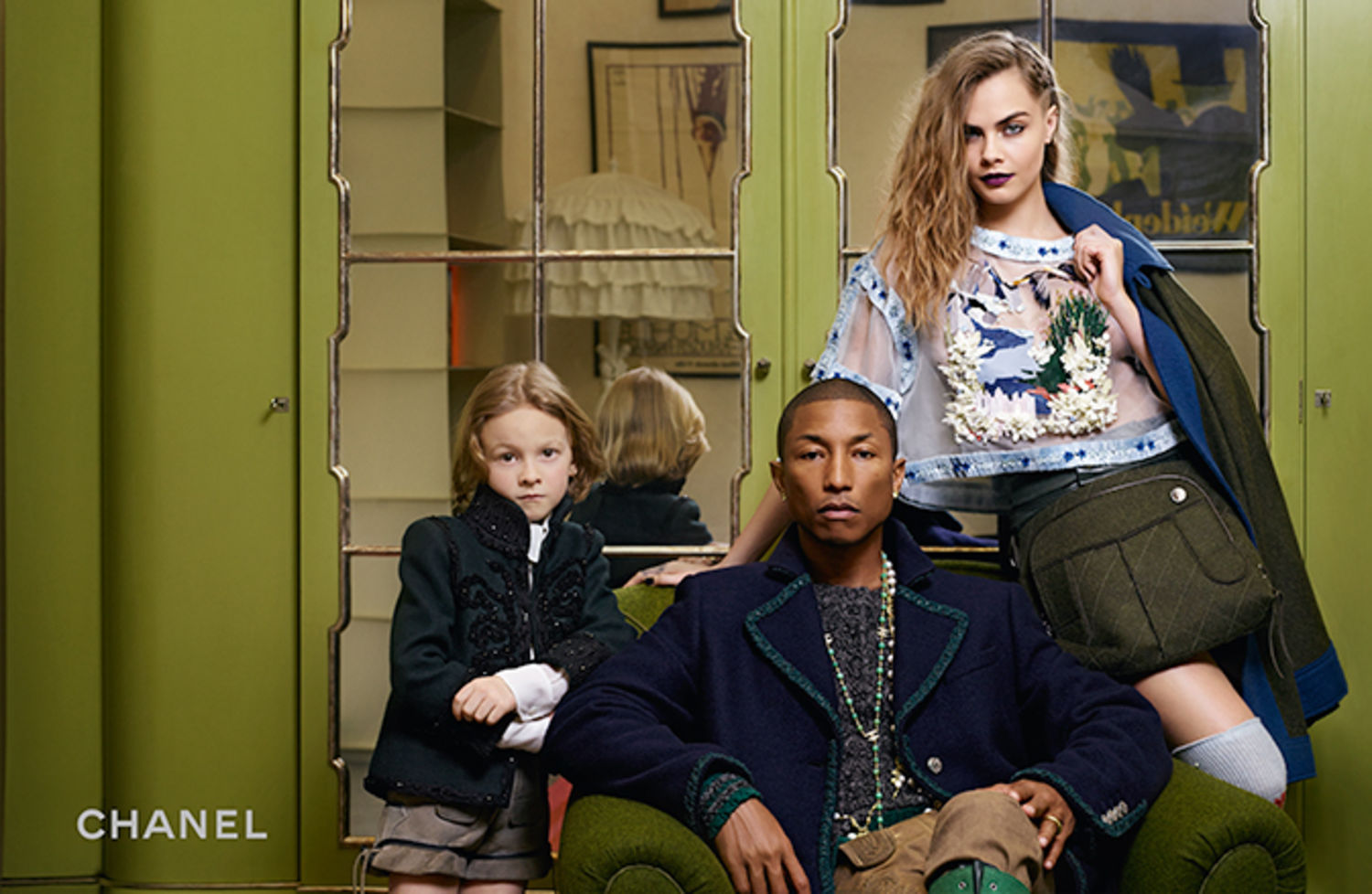 Pharrell Williams & Cara Delevinge for Chanel Pre-Fall 2015-4