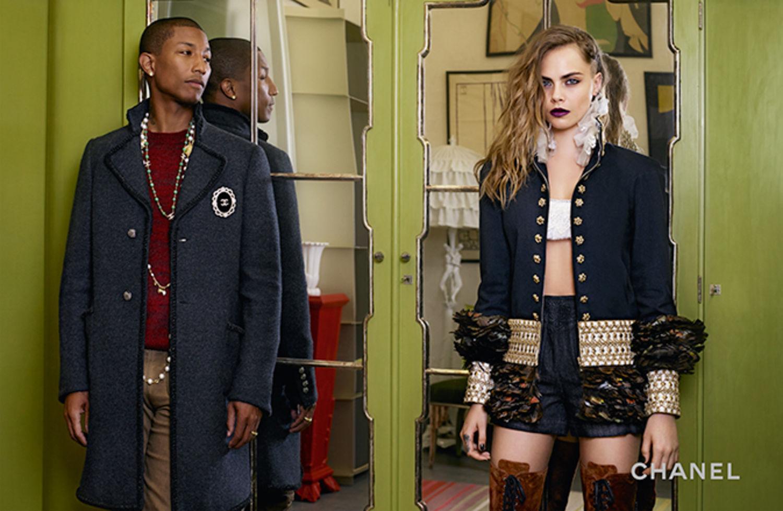 Pharrell Williams & Cara Delevinge for Chanel Pre-Fall 2015-5
