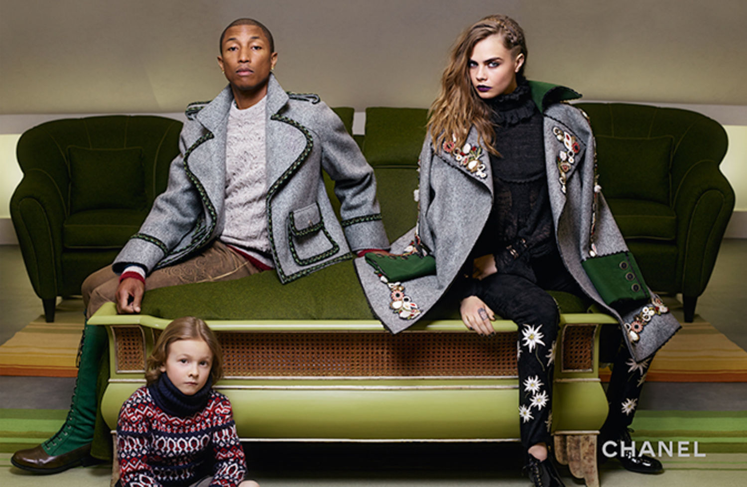 Pharrell Williams & Cara Delevinge for Chanel Pre-Fall 2015