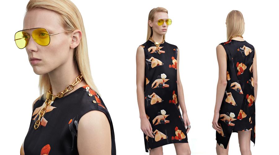Acne Studios Belvidere print silk dress