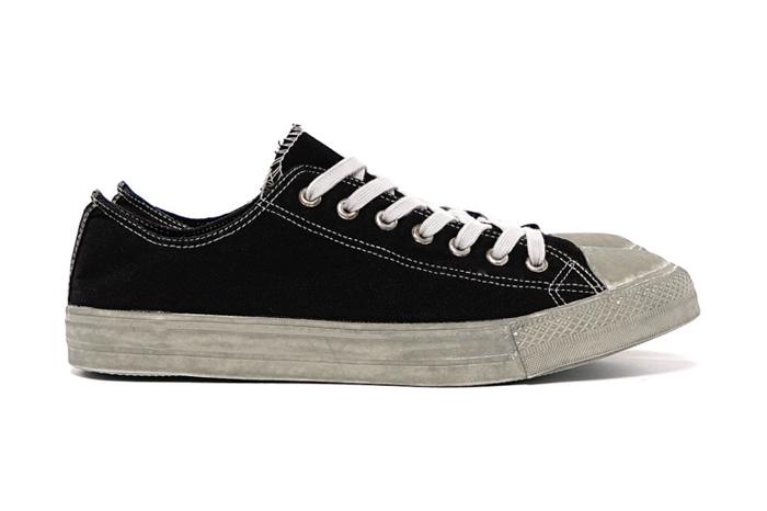 COMME des GARCONS HOMME SS15 Dyed Cotton Canvas Sneakers Black