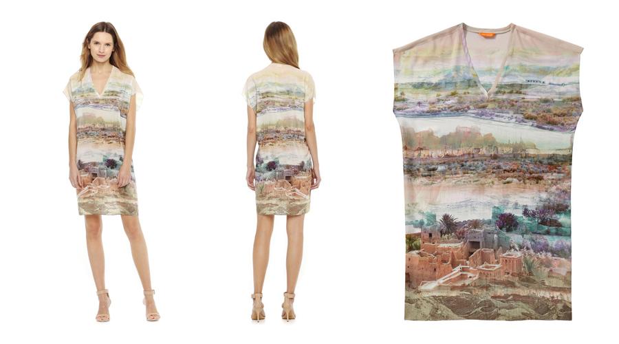 Joe Fresh Silk Desert Dress
