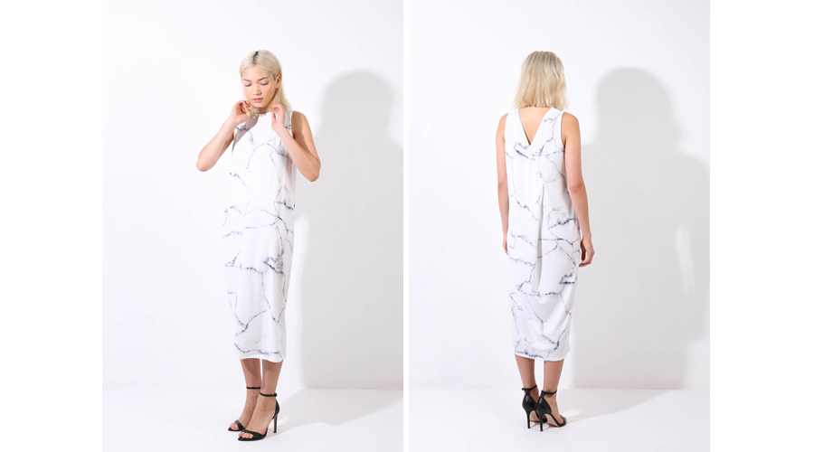 OAK and FORT Printed Dress 3060