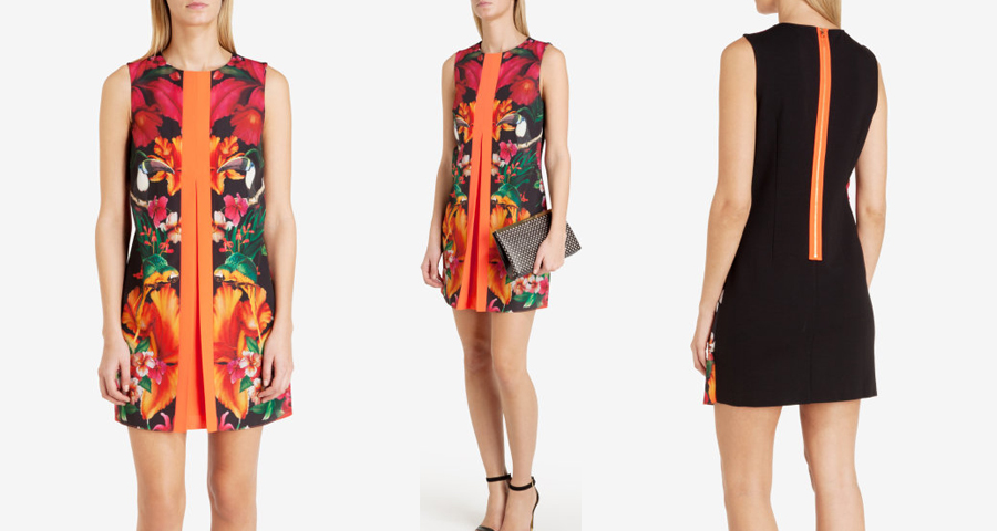 Ted Baker Tropical Toucan Pleat Tunic