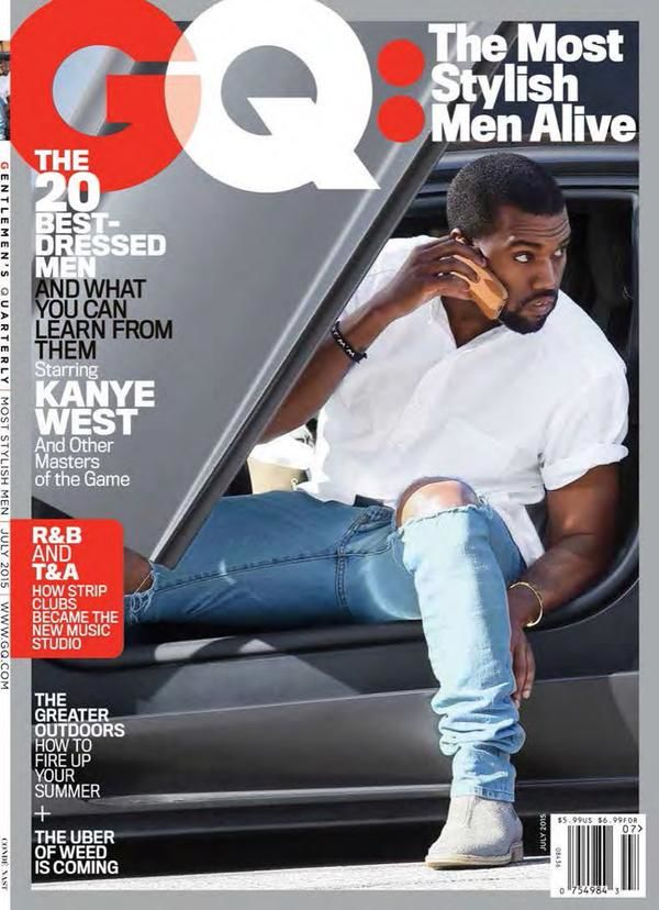 Kanye West GQ Most Stylish Men Alive Issue