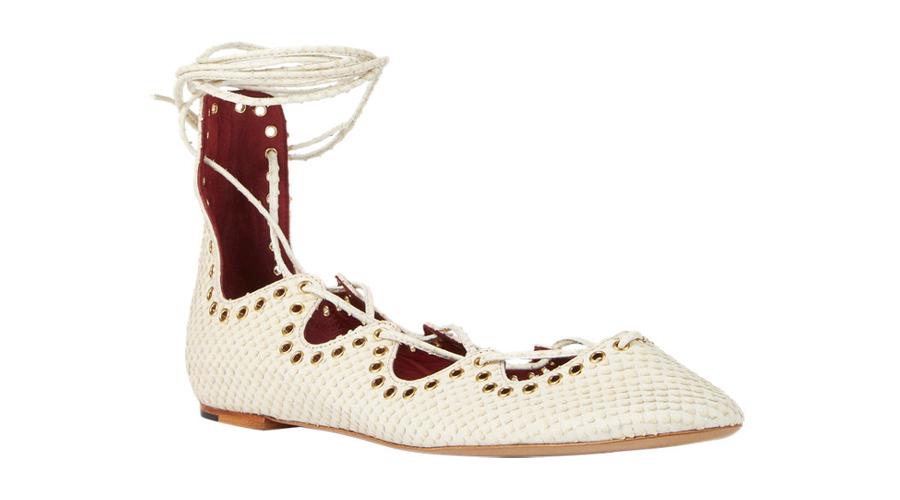 Isabel Marant Leo Ankle Wrap Flats