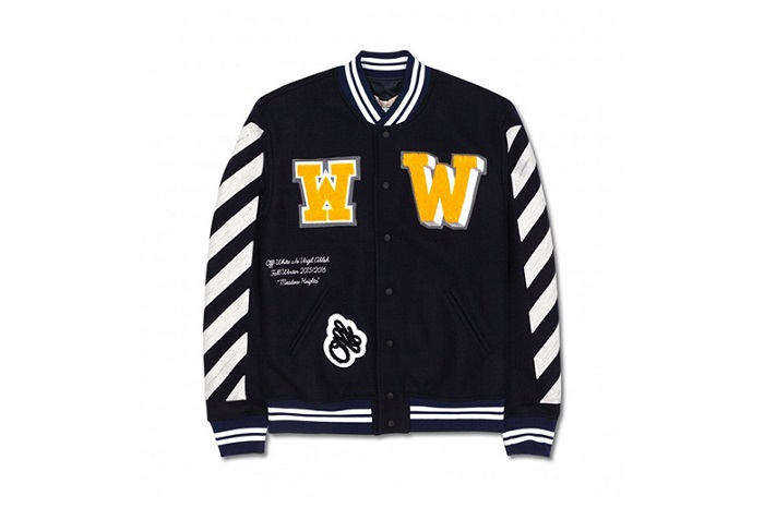 e2c376c47bbb OFF WHITE c o VIRGIL ABLOH Letterman Jacket Fall Winter 2015 ...