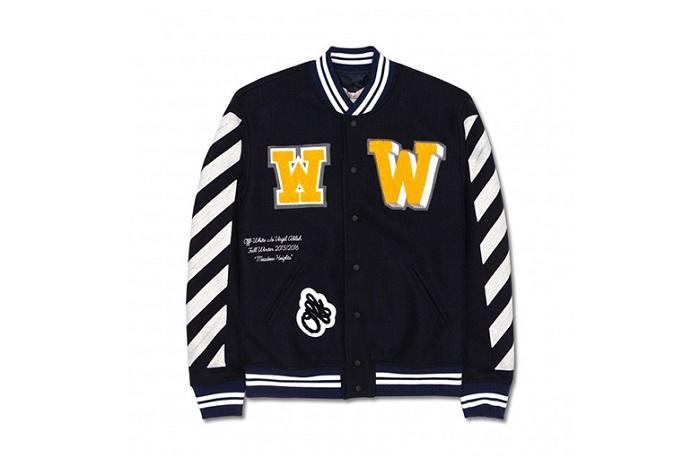 OFF WHITE co VIRGIL ABLOH Letterman Jacket Fall Winter 2015-2