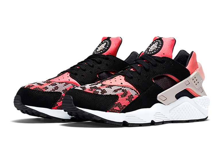 Nike Air Huarache Hyper Pink Wolf Grey-Black-4