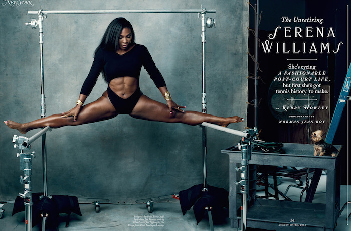Serena Williams in New York magazine. Photo Credit: Norman Jean Roy