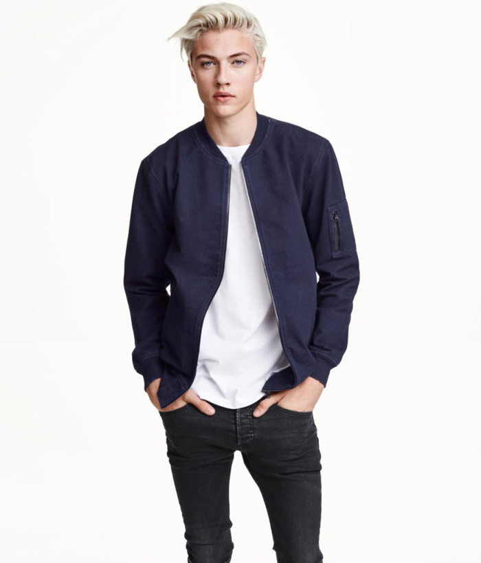 H&M Fall 2015 Men's Lookbook featuring Lucky Blue Smith ...