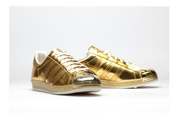 adidas superstar gold colour