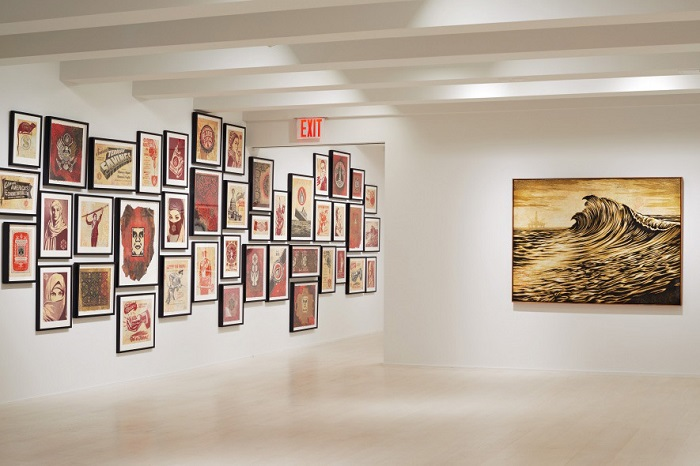 Shepard Fairey's 'On Our Hands' Exhibition Featured at the Jacob Lewis Gallery-2