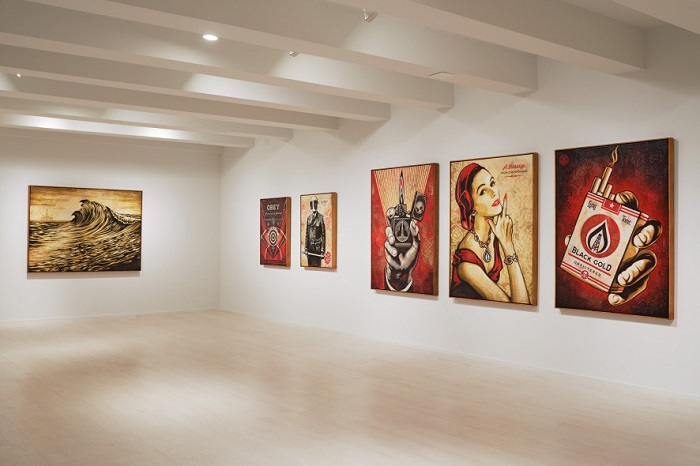 Shepard Fairey's 'On Our Hands' Exhibition Featured at the Jacob Lewis Gallery-3