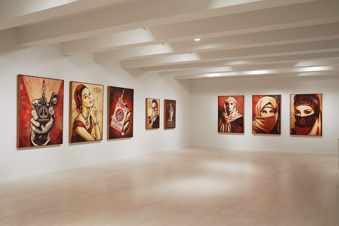 Shepard Fairey's 'On Our Hands' Exhibition Featured at the Jacob Lewis Gallery-5