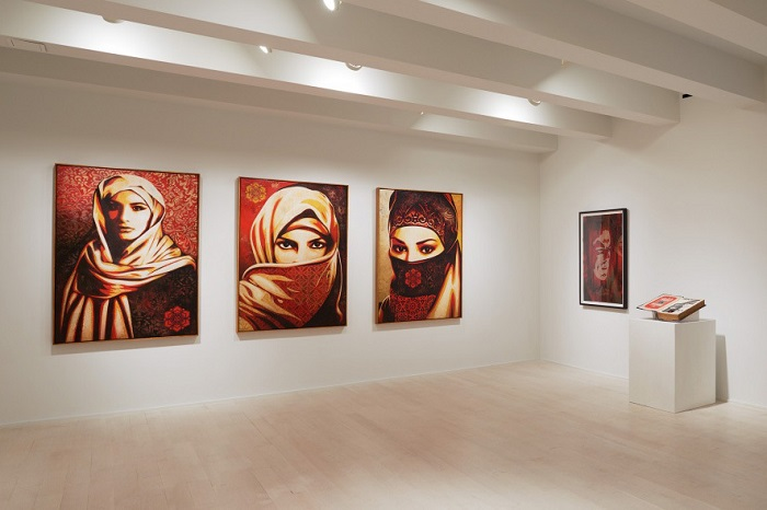 Shepard Fairey's 'On Our Hands' Exhibition Featured at the Jacob Lewis Gallery-6