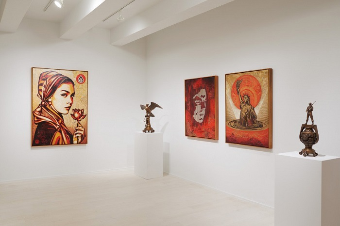 Shepard Fairey's 'On Our Hands' Exhibition Featured at the Jacob Lewis Gallery-7
