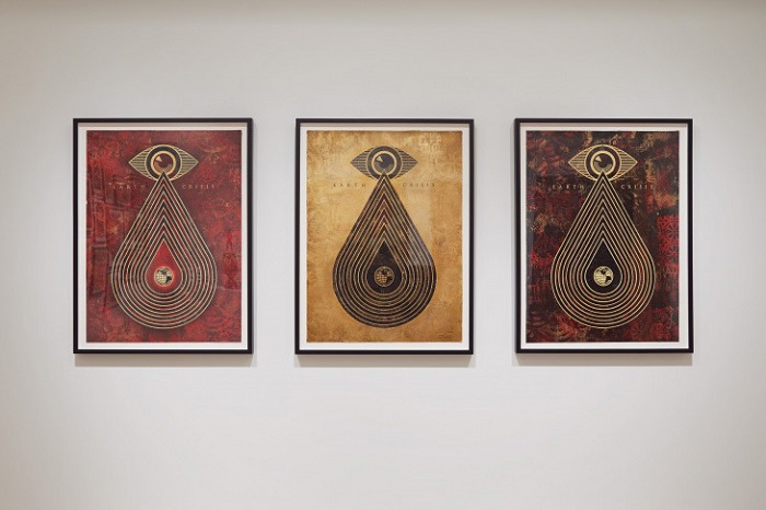 Shepard Fairey's 'On Our Hands' Exhibition Featured at the Jacob Lewis Gallery-8