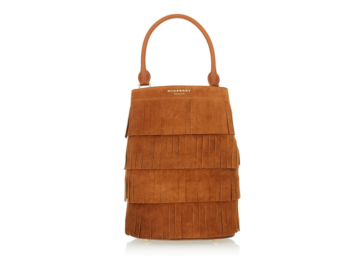 Burberry Prorsum Fringed Suede Tote, $3,505