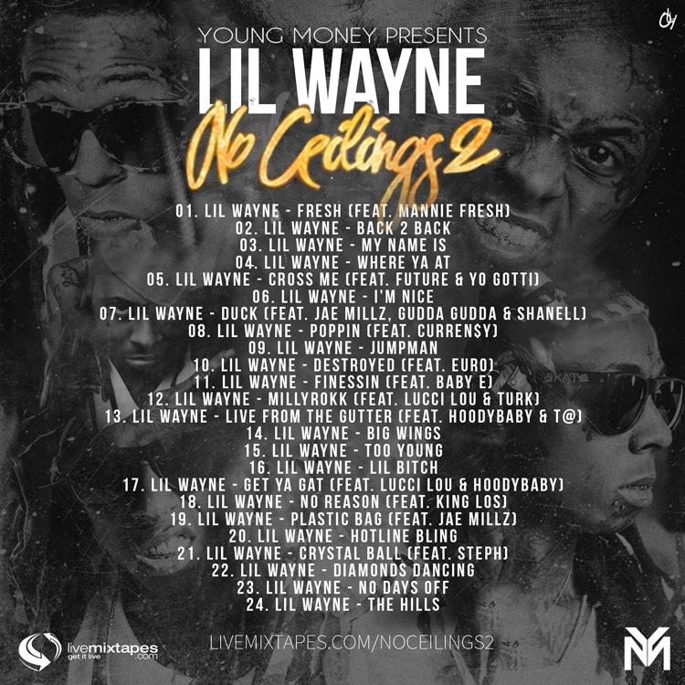Lil Wayne No Ceilings 2 mixtape Tracklist