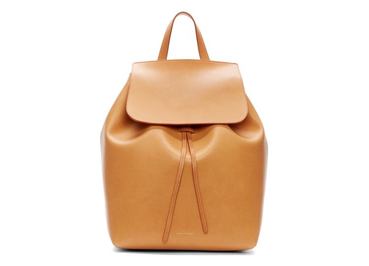 Mansur Gavriel Tan Leather Backpack