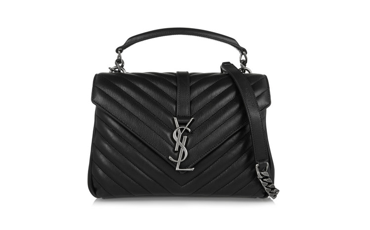 Saint Laurent College Medium Quilted Leather Shoulder Bag, $3,073