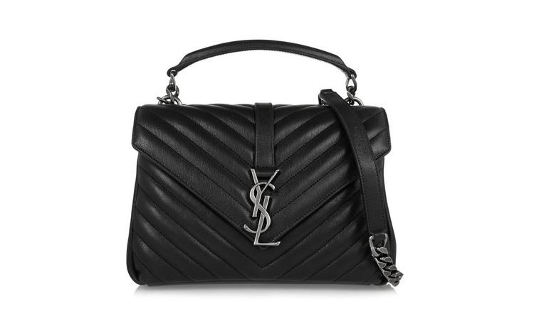 Saint Laurent College Medium Quilted Leather Shoulder Bag, $3,073