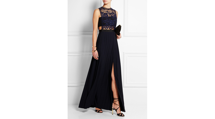 Self-Portrait Guipure Lace and Georgette Gown, $660
