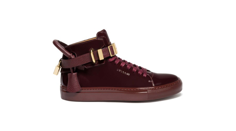 5. Buscemi 100mm Clip - Burgundy, $1100 USD