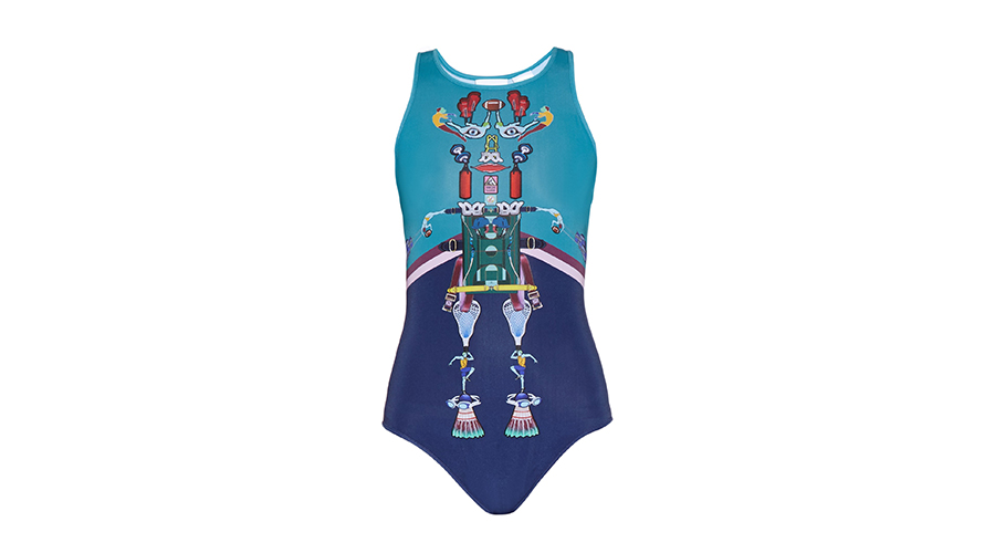 Adidas by Mary Katrantzou Digital-Print Bodysuit, $100
