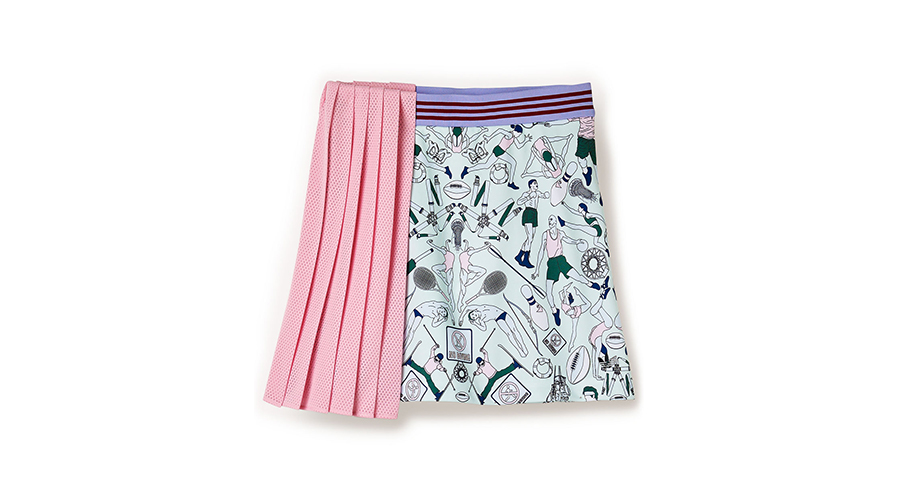 Adidas by Mary Katrantzou Illustrated Athletes Pleat Skirt, $150