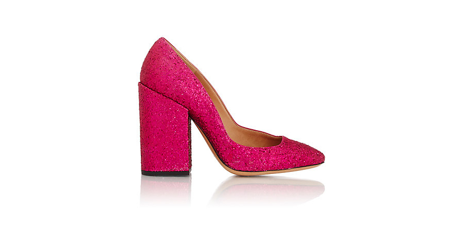 DRIES VAN NOTEN Glitter Asymmetric Pumps
