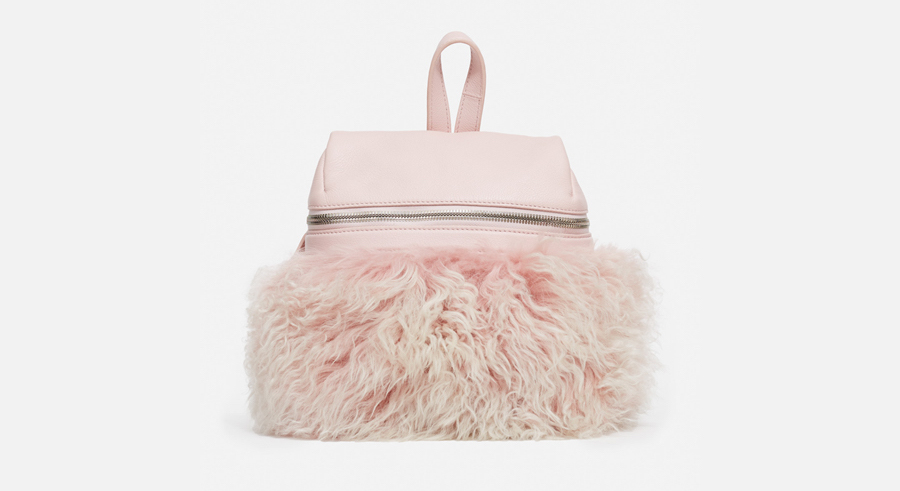 KARA Shearling Backpack, $575