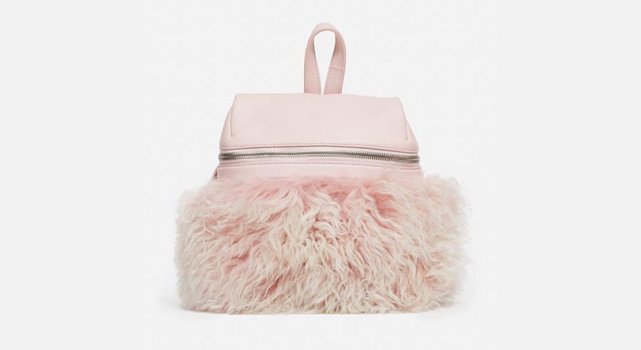 KARA Shearling Backpack, $575