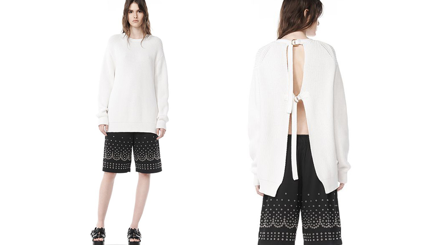 Alexander Wang Open Back Pullover