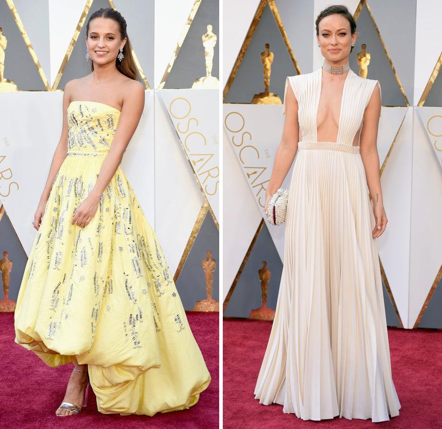 Alicia Vikander Olivia Wilde Oscars 2016